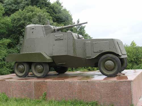 Бронеавтомобіль штабу фронту БА-10 №530 в урочищі Шумейкове